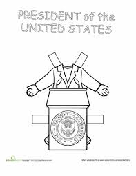 career paper dolls the president worksheets dolls and social