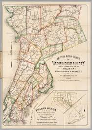 New York Counties Map Driving Road Chart Of Westchester County David Rumsey Historical
