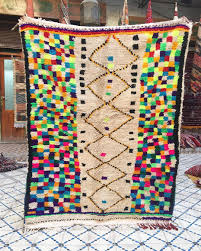 lahandira u2014 vintage artistic azilal rug with attract design