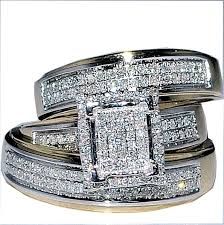 Wedding Ring Trio Sets by His And Her Wedding Ring Sets For Better Price