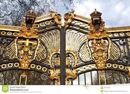 metal gate in kensington palace royalty free stock photo image