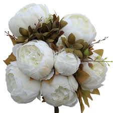 amazon com luyue vintage artificial peony silk flowers bouquet