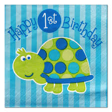 1st birthday boy turtle 1st birthday boy beverage napkins 16 at dollar carousel