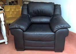 Black Leather Armchairs As New Black Leather Armchair Free Local Delivery Sofa Brown