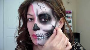 Halloween Skeleton Makeup Faces by Half Skull Makeup Tutorial For Halloween Youtube