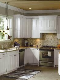cottage kitchen backsplash l shape small kitchen decoration using travertine tile kitchen