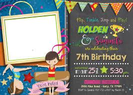 gymnastics birthday invitation free printable invitation design