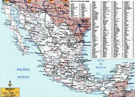 Mexico Political Map by Large Detailed Roads And Highways Map Of Mexico With All Cities