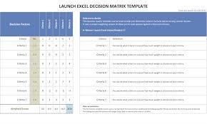 decision matrix resources u0026 excel template u2013 launch excel