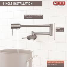 Delta Pot Filler Faucet Delta Faucet 1165lf Ar Contemporary Arctic Stainless Pot Filler
