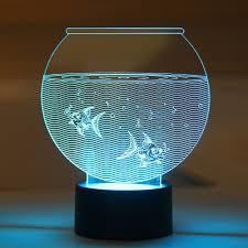 coolest lamps aquarium led night lamp lednightlamp nightlamp 3dlamp