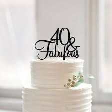aliexpress com buy 40 u0026 fabulous birthday cake topper 40th
