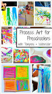 20 process art activities for preschoolers using paint buggy