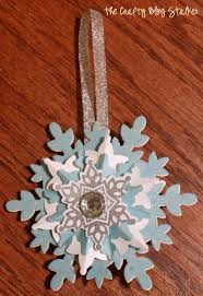 how to make a snowflake ornament the crafty stalker