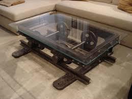railroad cart coffee table restoration hardware look here