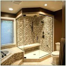 Walk In Shower For Small Bathroom Walk Shower Designs Through In With Benchwalk Small Bathrooms No
