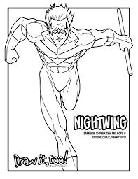 nightwing classic comic version tutorial u2013 draw it too