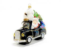 christmas glass ornament santa in london taxi renio u0026 clark