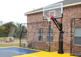 Backyard Basketball Hoops Mega Slam 72 Installed On A Backyard Court Professional Grade