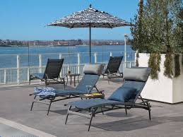Tropitone Patio Chairs by Tropitone Echo Sling Aluminum Chaise Lounge 189932
