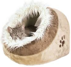 Dog Igloos Trixie Minou Cat Kitten Bed Padded Soft U0026 Warm Cuddly Beige