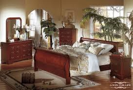 louis phillippe queen cherry sleigh bedroom set