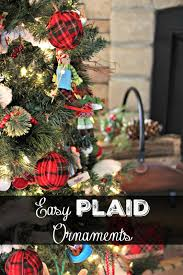 golden boys and me easy plaid ornaments our family room