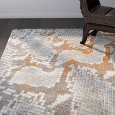 Grey And Orange Rug World Menagerie Fujii Light Gray Orange Area Rug U0026 Reviews Wayfair