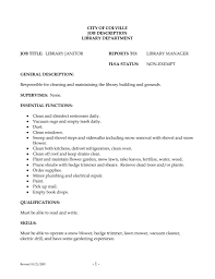 Cleaning Job Description For Resume by Sample Custodian Resume Free Resume Example And Writing Download
