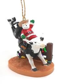 bull santa ornament bull and pbr