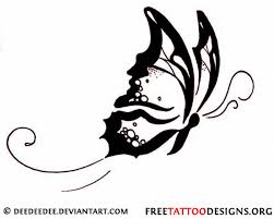 cool flying tribal butterfly design sle tattoomagz