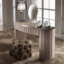 Dressing Design Curved Designer Nubuck Leather Dressing Table Juliettes
