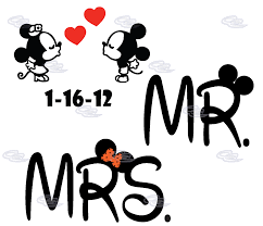 mickey and minnie wedding mr mrs with mickey minnie mouse with
