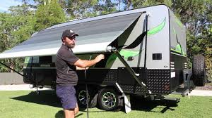 Roll Out Awnings For Campers Caravan Rollout Awning Setup For An Australia Wide Annexe Youtube