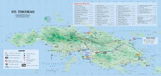 road map of st usvi st tourist map major tourist attractions maps
