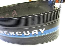 mercury outboard motor wrap around cowling 20 hp blue stripe