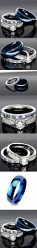 best ideas about women wedding rings pinterest his and hers sterling silver blue saphire stainless steel wedding rings set size men women hope when get ring for future husband