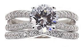 Jcpenney Wedding Rings by Jcpenney Fine Jewelry Diamonart Cubic Zirconia Sterling Silver