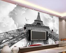 Wall Murals 3d Photo Any Size France Eiffel Tower Pigeon Tv Wall Mural 3d