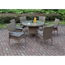 Woodbury 7 Piece Patio Dining Set - patio dining sets with cushions type pixelmari com