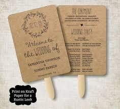 Fan Wedding Programs Template Wedding Program Template Free Printable Wedding Programs Custom