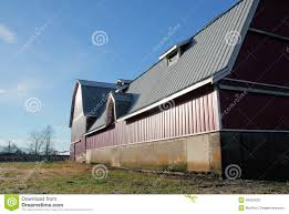 large modern barn with metal roof stock photo image 48524532