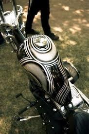 tank mustang chopper vintage baroque motorcycle custom paint