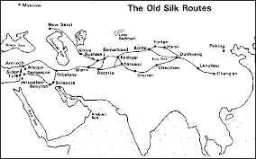 silk road maps map of silk road silk road route marco polo