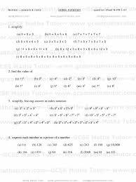 Sin Cos Tan Worksheet Index Notation Worksheet 01 Powers U0026 Roots Number Gcse Maths Tutor