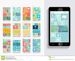 concept of mobile user interface with template stock illustration