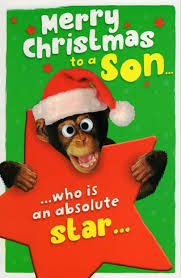 son funny christmas greeting card cards love kates