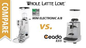How To Make A Coffee Grinder Compare Mazzer Mini Electronic A B To Ceado E37j Espresso Coffee