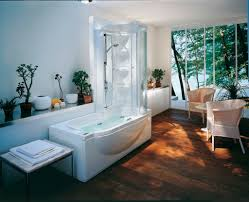 decoration ideas lovely free standing soaking bathtub with black casual decoration interior for bathroom jacuzzi shower combination design ideas fancy whirlpool soaking bathtub with