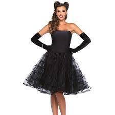 rockabilly swing dress in black or red tulle skirt dress